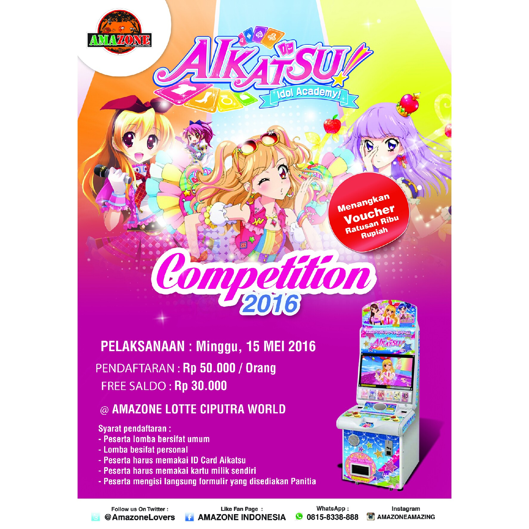 Aikatsu petition 2016 Amazone Lotte Ciputra World