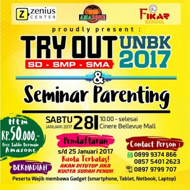 Try Out dan Seminar Parenting Cinere Bellevue Mall