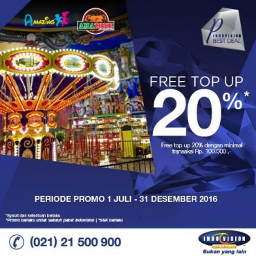 Promo E-voucher Indovision Free Top Up 20%