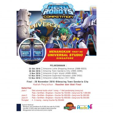 Hero Of Robots Competition 2016 Road To Universal Studio